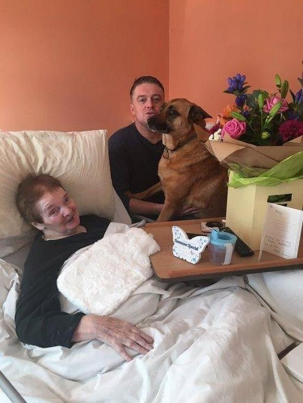 Bereaved: Steve Crowley and his mother Evelyn while he was her carer