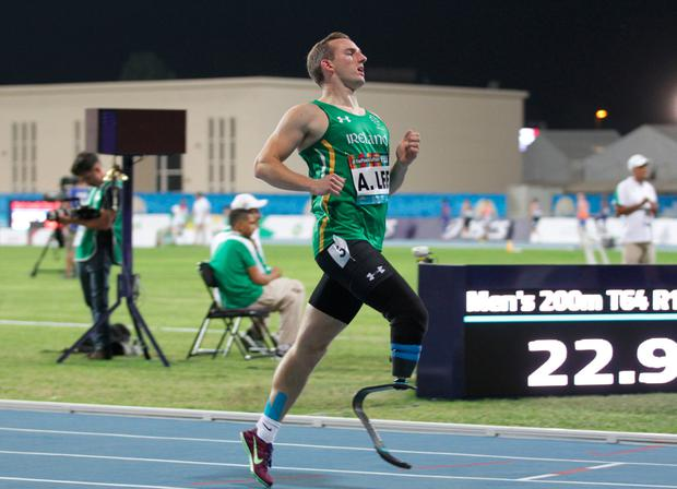 Team Ireland's Alex Lee from Galway. Photo: Ben Booth/Sportsfile