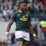 Springbok Aphiwe Dyantyi tested positive for a cocktail of drugs, including anabolic steroids, missed the World Cup in Japan and faces a ban. Photo: GIANLUIGI GUERCIA / AFP