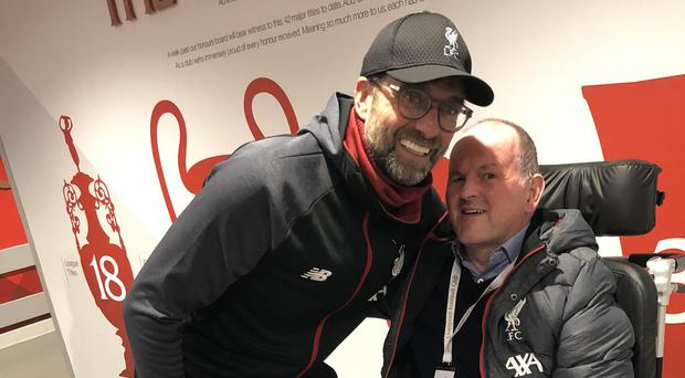 Jurgen Klopp's tribute to Sean Cox as Irishman returns to Anfield for Liverpool's win over Manchester City