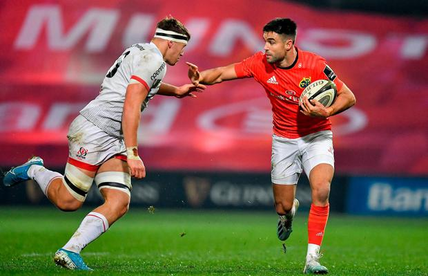 Conor Murray of Munster in action against Matthew Rea of Ulster. Photo: Brendan Moran/Sportsfile