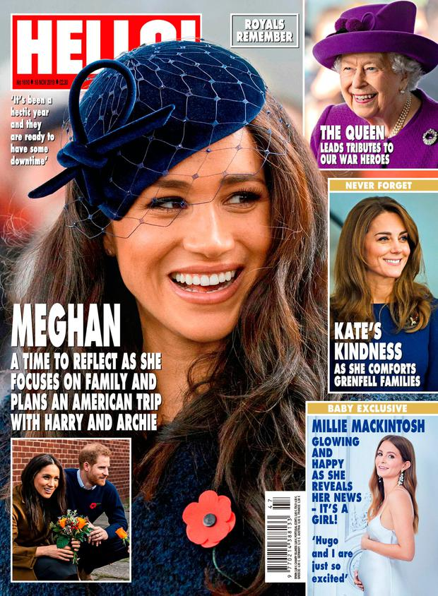 The front cover of the latest edition of Hello! magazine