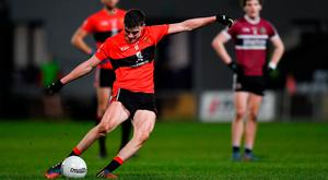 Model student: Seán O'Shea in action for UCC in the Sigerson cup final. Photo: Piaras Ó Mídheach/Sportsfile