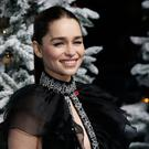 English actor Emilia Clarke arrives to attend the UK premiere of the film