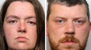Undated handout photo issued by South Yorkshire Police of Sarah Barrass, 35, (left) and Brandon Machin who are set to be sentenced after they admitted murdering two of her children. Photo: South Yorkshire Police/PA Wire