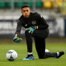 Gavin Bazunu is set to make his Ireland U-21 debut against Armenia on Thursday. Photo by Eóin Noonan/Sportsfile