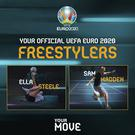Ella Steele and Sam Madden have been chosen as the Irish representatives on the Euro 2020 Freestylers squad.
