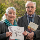 Climate activist husband and wife team Cleo de Vito and Cy O'Hara in Claremorris, Co Mayo. Photo: Keith Heneghan