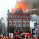 Primark Bank Buildings during the fire