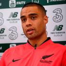 New Zealand captain Winston Reid during a press conference at The Sportsground in Galway ahead of Thursday's friendly international against Ireland at the Aviva Stadium, Dublin. Photo by Matt Browne/Sportsfile