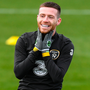 Jack Byrne is all smiles during training in Abbotstown ahead of Ireland's game against New Zealand tonight. Photo: Sportsfile