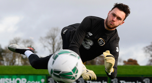 Kieran O'Hara is ready to play against Denmark if required after his full debut today
