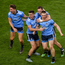 Michael Fitzsimons, Niall Scully, Dean Rock and John Small celebrate after Dublin's All-Ireland SFC final replay victory over Kerry at Croke Park in September. Photo by Daire Brennan/Sportsfile