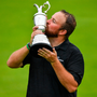 The Clara Jug: Shane Lowry celebrates his Open triumph at Royal Portrush. Photo by Brendan Moran/Sportsfile