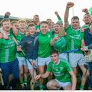 St Mullins players and supporters celebrate