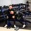 Jack Byrne takes Troy Parrott, literally, under his arm during yesterday's gym session at the Sport Ireland Institute in Abbotstown. Photo by Stephen McCarthy/Sportsfile