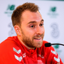ROUGH PATCH: Christian Eriksen during a Denmark press conference at the Aviva Stadium yesterday. Photo by Stephen McCarthy/Sportsfile