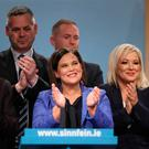 Sinn Fein President Mary Lou McDonald after giving her keynote speech during her party's ard fheis (annual conference) at the Millenium Forum in Londonderry. PRESS ASSOCIATION Photo. Picture date: Saturday November 16, 2019. See PA story IRISH SinnFein. Photo credit should read: Brian Lawless/PA Wire