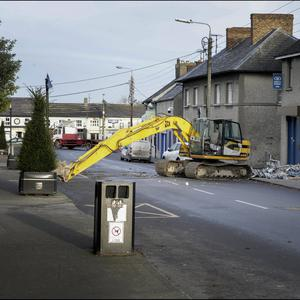ATM theft: The scene in Dunleer, Co Louth. Photo: Dave Conachy