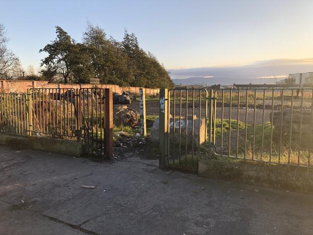 Derelict: The O'Devaney Gardens site in Dublin is being rebuilt with 768 new apartments