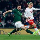 Ireland will be involved in a playoff next March to see if they qualify for Euro 2020. (Photo by LORRAINE O'SULLIVAN/AFP via Getty Images)