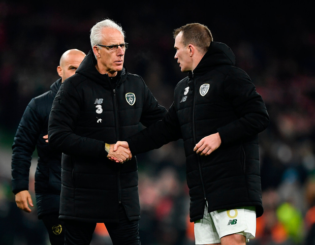 Mick McCarthy is hoping for a repeat of Ireland's performance against Denmark in the Euro 2020 playoffs. Photo by Seb Daly/Sportsfile