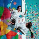 Under threat: Muireann Deidda Strata and Nessa Nic an Bhaird, of Galway Community Circus performing in June
