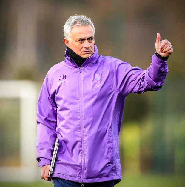 Jose Mourinho builds up youngster Japhet Tanganga in first Tottenham training session