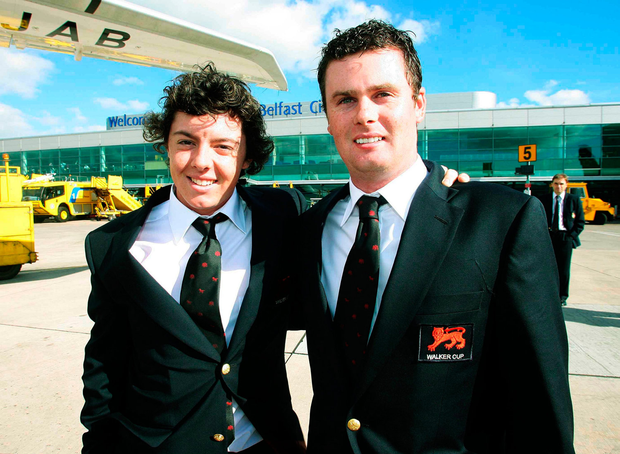 Jonathan Caldwell was a Walker Cup team-mate of Rory McIlroy in 2007. Photo: Oliver McVeigh / Sportsfile