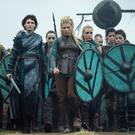 Girl power: The dramatised battles of 'Vikings' will be fought in Ireland again.