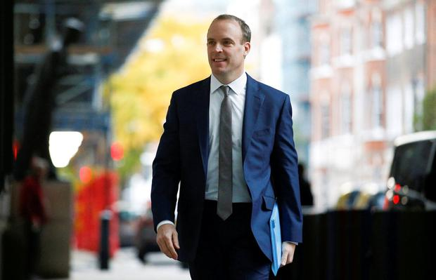 Britain's Foreign Secretary Dominic Raab arrives at the BBC Headquarters ahead of his appearance on the Andrew Marr show in London. Photo: REUTERS/Henry Nicholls