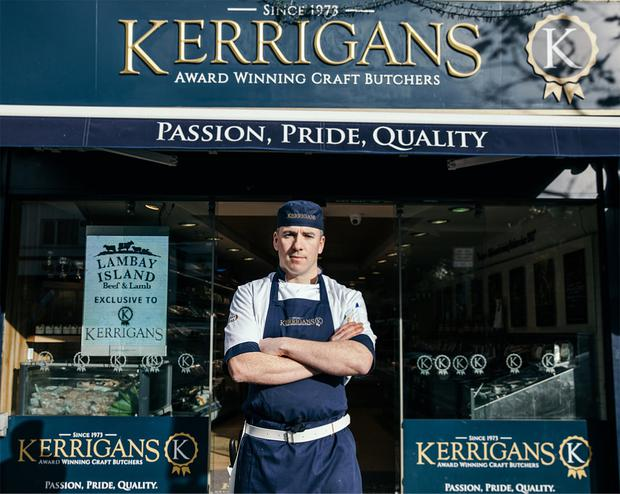 At the sharp end: Butcher Barry Kerrigan finds chatting to customers is a direct line to knowing their needs better.