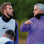 Tottenham's new head coach Jose Mourinho in discussion with club captain Harry Kane on the Portuguese manager's first day at the Tottenham Hotspur Training Centre in Enfield, England. Photo: Tottenham Hotspur FC/Tottenham Hotspur FC via Getty Images