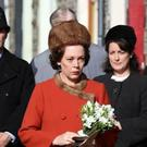The Queen (Olivia Colman) visits Aberfan eith days after the disaster, an event historians say The Crown has grossly misrepresented