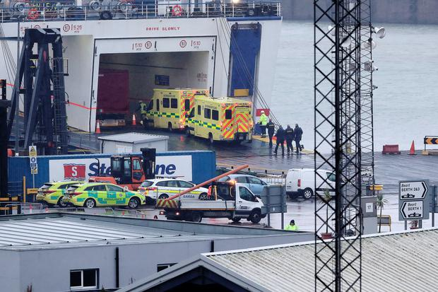 16 people discovered in sealed container on ferry to Ireland