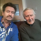 Brian Gaynor with his father, Eddie (86)