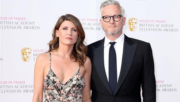 Sharon Horgan and Jeremy Rainbird arrive for the House Of Fraser British Academy Television Awards 2016 at the Royal Festival Hall on May 8, 2016 in London, England. (Photo by Mike Marsland/Mike Marsland/WireImage)