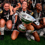 The price of success: Wexford Youths captain Kylie Murphy and team-mates celebrate after their victory in the Só Hotels FAI Women's Cup final – earlier this year they had to set up a gofundme page to raise money to play in the Women's Champions League. Photo: Sportsfile