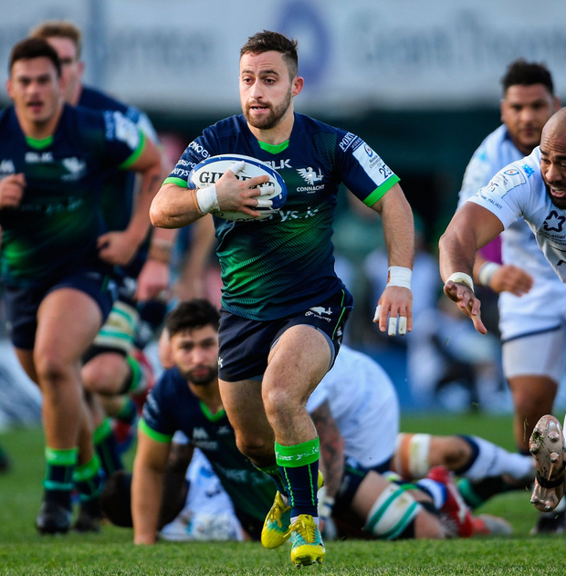 Caolin Blade will be in command from scrum-half as Connacht bid for back-to-back victories against French opposition. Photo: Ramsey Cardy/Sportsfile