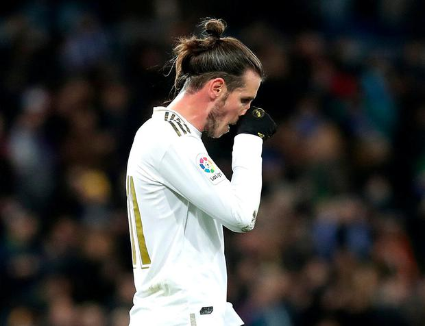 Target: Gareth Bale was subjected to a chorus of boos after coming on for Real Madrid on Saturday. Photo: Gonzalo Arroyo Moreno/Getty Images