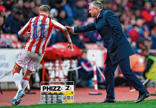 Cross borders: Michael O'Neill is currently re-energising James McClean at Stoke. Photo: Nathan Stirk/Getty Images