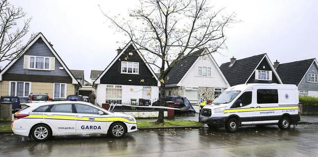 The scene in Clonshaugh where Eoin Boylan was shot dead Picture: Gerry Mooney