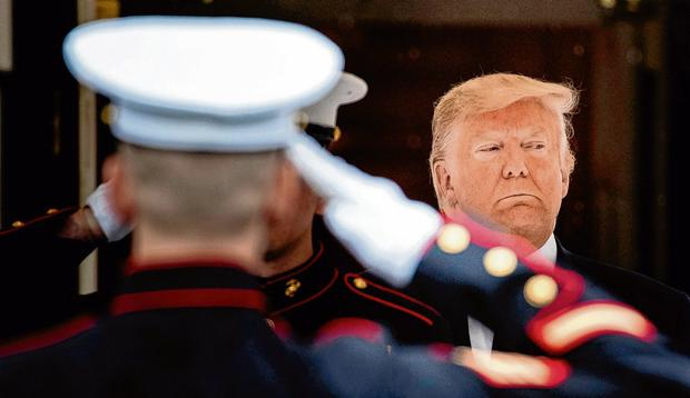 Issued pardon: US President Donald Trump intervened in the case of the navy Seal. Photo: Alex Edelman/Bloomberg