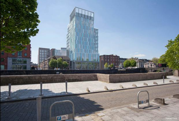 Investment: A rendering of the planned landmark building on Limerick's 'Opera Site'