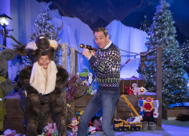 **NB EMBARGO IN PLACE UNTIL 6AM FRIDAY 28th NOV '19 ON ALL PLATFORMS*** 28/11/'19 Ryan Tubridy pictured on the set of the Late Late Toy Show 2019 at a preview Friday's Late Late Toy Show, which will be broadcast at 9.30pm on RTE 1...Picture Colin Keegan, Collins Dublin