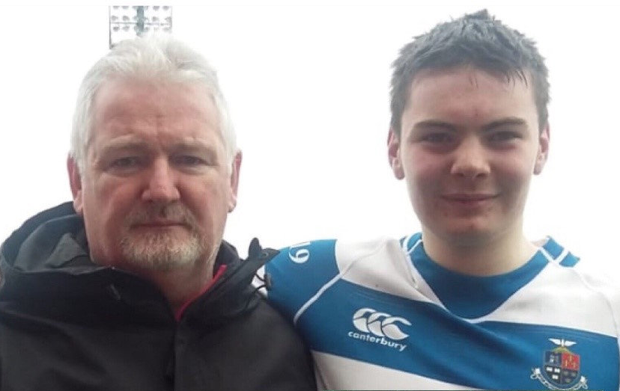 Club president Andy Meaney with son Cian