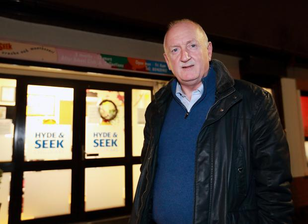 Councillor: Former Dublin Lord Mayor Nial Ring outside the Tolka Road crèche. Photo: Frank McGrath