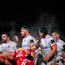 29 November 2019; The Ulster front row, from left, Marty Moore, Rob Herring and Eric OSullivan during the Guinness PRO14 Round 7 match between Ulster and Scarlets at the Kingspan Stadium in Belfast. Photo by Ramsey Cardy/Sportsfile