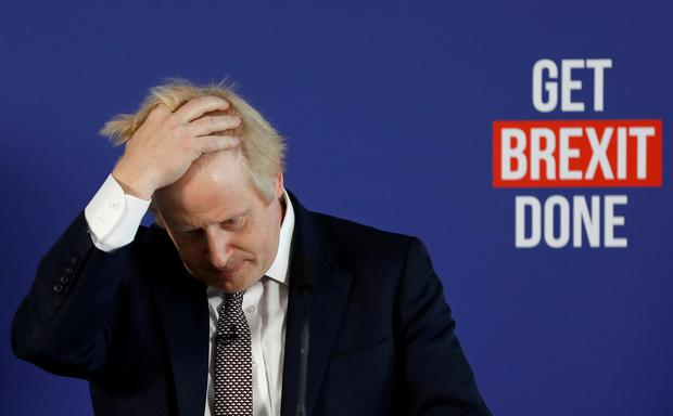 Potential headache: Boris Johnson is keen for Donald Trump to stay out of election talk with the Tories ahead in the polls. Photo: Reuters/Peter Nicholls