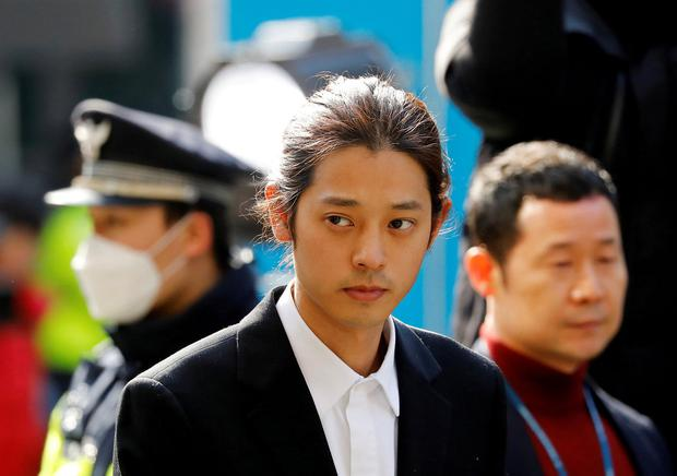 Locked up: Jung Joon-young received a six-year prison term. Photo: Reuters/Kim Hong-Ji/File Photo